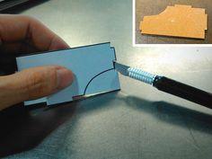 DIY Google Cardboard viewer - cutting cardboard pieces