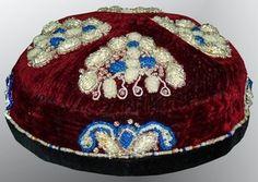 Antique UZBEK Beaded Hand Embroidery Skull Cap from Tashkent A2162 | eBay