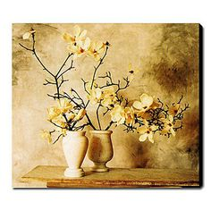 Floral oil paintings on canvas