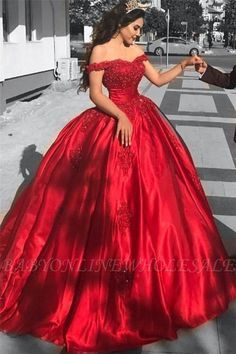 Elegant Arabic Red Prom Dress,Ball Gown Prom Dresses ,Long Off The Shoulder Prom Dress,Lace Appliques Beaded Puffy Evening Dress,Party Gowns Quinceanera Dress Lace Ball Gowns, Ball Gowns Evening, Ball Gowns Prom, Ball Gown Dresses, Dresses Uk, Evening Dresses, Party Dresses, Long Dresses, Satin Dresses