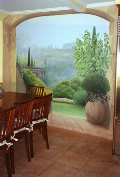 i need this painted on my kitchen wall. I am so in love with this mural!!!