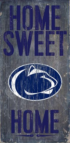 Is your home a Penn State Football Home? Then you need this sign. This Penn State sign is perfect for displaying around the home. It includes a piece of rope attached to the back for hanging. The sign