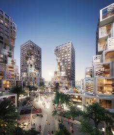 MVRDV has revealed their first project in the UAE, Pixel, a mixed-use development that will serve as a centerpiece of Abu Dhabi's new Makers District. Concept Architecture, Facade Architecture, Amazing Architecture, Abu Dhabi, Mix Use Building, Building Design, Plakat Design, Mall Design, Residential Complex