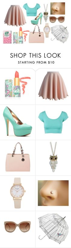 """""""girly spring look"""" by anastasiashoup on Polyvore featuring beauty, tarte, Chicwish, MICHAEL Michael Kors, Aéropostale, STELLA McCARTNEY and Lulu Guinness"""