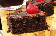 Brownie de Chocolate Furadinho enviada por Mais Você no dia 06/09/2016