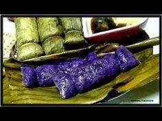 Similar to Suman sa Lihiya,mine is without Lihiya.Filipino Snack made of glutinous rice ,purple yam,salt and coconut. Filipino Dishes, Filipino Desserts, Filipino Recipes, Filipino Food, Asian Recipes, Ube Recipes, Cooking Recipes, Dessert Recipes, Suman Cassava Recipe
