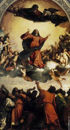 """Напротив, вертикальный формат настраивает бодро, радостно, внушает зрителю чувство духовного освобождения и возвышенных устремлений. Только в вертикальном формате Тициан мог создать сияющий и ликующе-торжественный полет богоматери в своей знаменитой """"Assunta"""" (""""Вознесение"""")."""
