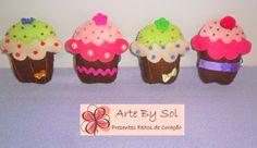 Chaveirinhos Cupcake -  Arte By Sol