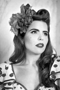 Paloma Faith :) I aspire to have hair like her