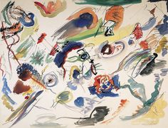 Vassily Kandinsky • Sans titre (Etude pour Composition VII, Première abstraction, aquarelle), 1913