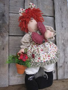 cloth doll pattern Raggedy Ann