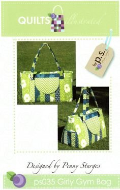 Girly Gym Bag Pattern - great for beach , knitting, etc. Wallet Sewing Pattern, Sewing Patterns, Bag Patterns, Sewing Projects, Projects To Try, Sew Wallet, Unique Purses, Sewing Rooms, Bag Making