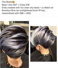Grey Hair Formula Redken, Aveda Hair Color, Kim Hair, Redken Hair Products, Hair Color Formulas, Cabello Hair, Pixie, Crop Hair, Teased Hair