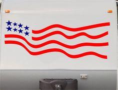 USA Flag Camper Decals - Motorhome Stripe Kit - RV Stickers - Trailer Stickers- Sticker Graphic- Motorhome Decals- RV Stripe Kit- US10