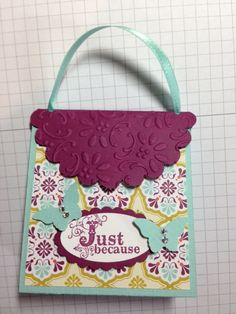 Stampin Up 3-D Purse