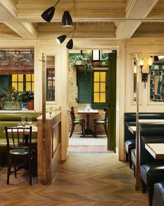 "Interiors Mag (@interiorsmag) en Instagram: ""Margaux at the Marlton Hotel in Greenwich Village, NYC | More images @finerestaurants &…"""