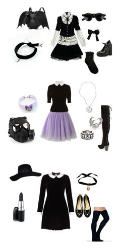 """""""In a world populated by clones of wednesday adams"""" by satanismywaifu ❤ liked on Polyvore featuring Balenciaga, River Island, ASOS, Oasis, Chicwish, Karen Millen, GAS Jeans, King Baby Studio, Alexander McQueen and Meadham Kirchhoff"""