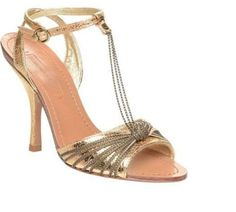24b8ee06ec3da8 Bcbg Max Azria Gold Size 10 Leather High Heel Ankle Strap Sandals New In  Box Gold