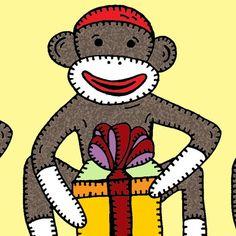 sock monkey digital stamp