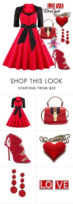 """Rosegal"" by jasmina-ishak ❤ liked on Polyvore featuring Gucci, Givenchy and Kenneth Jay Lane"