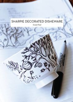 Sharpie Decorated Dishware
