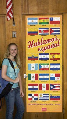 Flags of Spanish Speaking Countries Door Poster null…