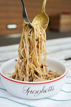 Spaghetti, Dinner, Ethnic Recipes, Blog, Diet, Dining, Dinners, Noodle