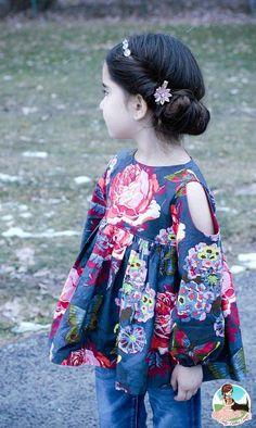 Girls Dress Sewing Pattern Easy Dress Pattern by littlelizardking