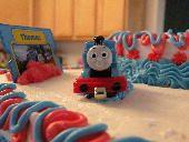 A Thomas The Tank cake I created
