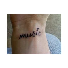 Music Tattoo On Wrist My Style ❤ liked on Polyvore featuring accessories, body art, tattoos and tatoos