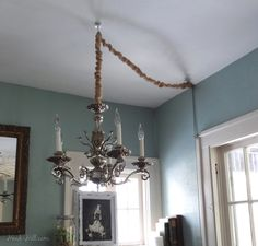 How to install an overhead light- with switch - in a  room without wiring for a ceiling light.