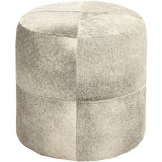 uma enterprises silver leather ottoman 160 liked on polyvore featuring home furniture