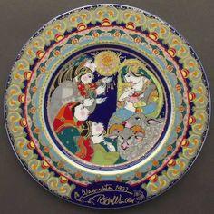 Bjørn Wiinblad, 1977 Rosenthal Christmas Plate (1971-1982)
