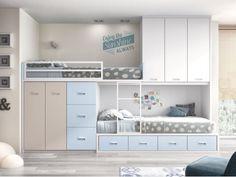 habitación juvenil blanco , cielo y tierra con tirador box Formas F259…