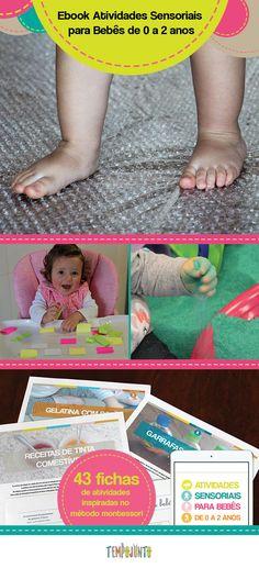 Que tal montar uma rotina de brincadeiras estimulantes para o seu bebê? Com o e-book Atividades Sensoriais para Bebês de 0 a 2 anos você tem 43 fichas de atividades para fazer com os bebês, usando os materiais que você possui em casa. São brincadeiras simples que divertem e desenvolvem os pequenos. Sem o estresse de ficar sem saber o que fazer com o bebê.