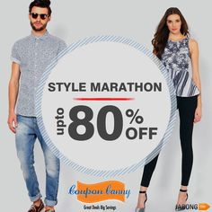 STYLE MARATHON: Upto 80% OFF at #Jabong! Claim Now : http://www.couponcanny.in/jabong-coupons/