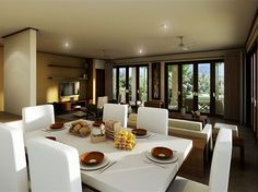 Balance. http://www.homearena.co.uk/kc/tips/37-superb-dining-room-decorating-ideas There is something for everyone in these dining designs.  LynC  www.fengshui8mansions.com