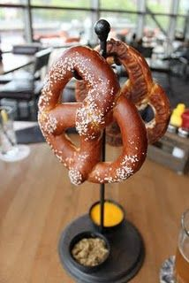 Big & Twisted Pretzels-  Two German style soft pretzels supplied by Milwaukee's own Miller Bakery served with horseradish mustard and cheese sauce.