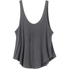 RVCA Women's  Label Drape Tank Top (31 CAD) ❤ liked on Polyvore featuring tops, shirts, tank tops, tanks, black, crop shirts, crop top, rvca shirts, black loose tank top and crop tank top