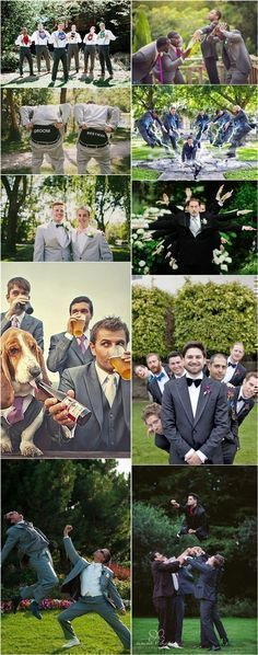 funny groomsmen wedding photo ideas / http://www.deerpearlflowers.com/fun-groomsmen-photo-ideas-and-poses/ #funnyweddingphotos