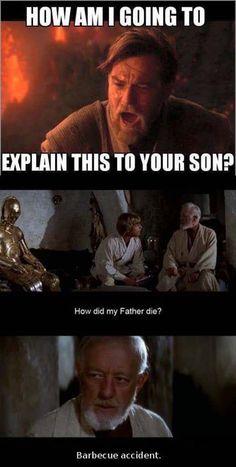 Obi Wan doesn't know how to put it nicely - Humor Memes Star Wars Trivia, Star Wars Jokes, Star Wars Facts, Obi Wan, Starwars, Rasengan Vs Chidori, Prequel Memes, Star Wars Rebels, Star Trek