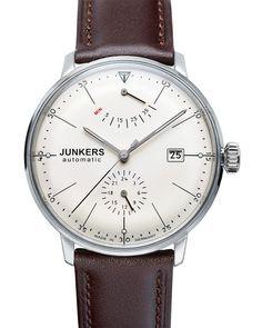 Erschwingliche deutsche Uhr mit Gangreserveanzeige: Junkers Bauhaus