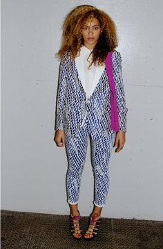 6bb4fa534edf3 Beyonce Knowles wearing Joe s Jeans High Water Geometric Skinnies Joe s  Jeans Elsa Oversized Jacket Tom Ford