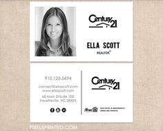Century Business Cards For The Home Pinterest Business - Century 21 business cards template