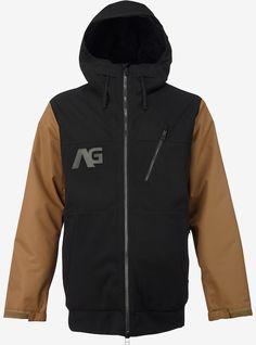 9ec80d27fd Analog Greed Jacket shown in True Black Snowboarding Men
