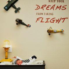 airplane nursery wall decoration