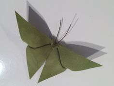natural origami butterfly Fabric Origami, Origami Butterfly, Plant Leaves, Felt, Natural, Plants, Felting, Feltro, Planters