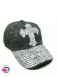Black Washed Bling Bill with Cross Baseball Hat $13.99 Divalicious