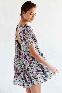 9bce35a4bafa Kimchi Blue Floral Fields Flutter-Sleeve Frock Dress Urban Dresses