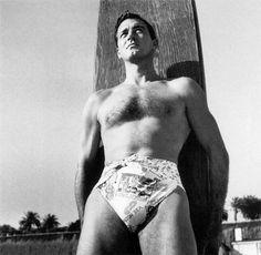 John Payne, 1940s .....it's hard to look macho in a festive diaper